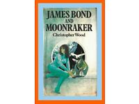JAMES BOND AND MOONRAKER. Christopher Wood 1979 1st Edition Hardback Ex-Library