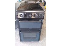 6 MONTHS WARRANTY Hotpoint HAE51 50cm, VERY CLEAN electric cooker FREE DELIVERY