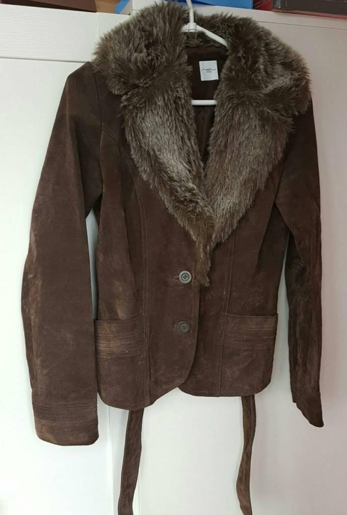 Suede jacket size UK8
