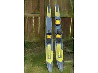 Water Ski Combo - Vintage Jobe SC 550 Water Skis.
