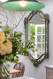 HUGE Large Antique French style mirror 160cm x 92cm