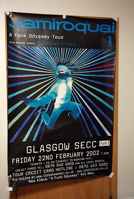 "HUGE Jamiroquai subway poster 40"" 60"" Funk Odyssey Glasgow 2002 UK acid jazz"