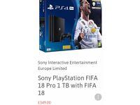 PS4 1TB PRO FIFA 18 HARDBUNDLE