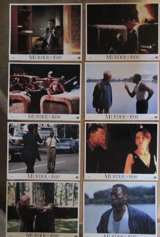 MURDER AT 1600 MOVIE POSTER LOBBY CARD SET OF (8) 1997 ORIGINAL 11x14 DIANE LANE