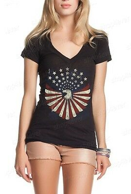 Eagle Flag Stars Distressed Women
