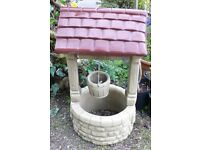 Wishing Well Garden Ornament Reconstituted Stone 1m x52cm Bucket, Roof, Brick-look Collect Only