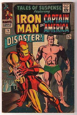 Marvel Comics  TALES OF SUSPENSE  #79  4.5 VG+   Captain america