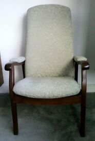 Easy chair with Wooden Arms