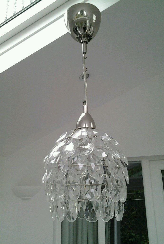 Ikea rimsbo glass drops chandelier light shade in catford london ikea rimsbo glass drops chandelier light shade mozeypictures Choice Image