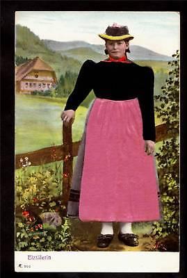 Local Costume (old pink silk local costume elztalerin germany)
