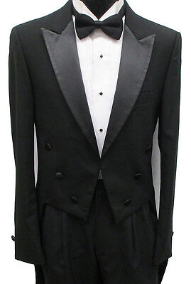 Black 6 Button Tailcoat Halloween Costume Theater Victorian Dracula Dickens 37L