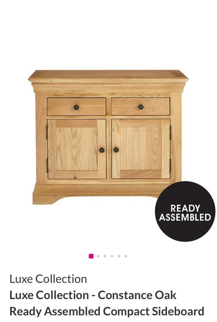 Luxe Collection - Constance Oak Ready Assembled Compact Sideboard (Brand New)