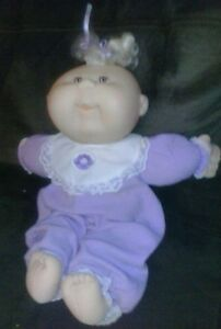 VINTAGE-CABBAGE-PATCH-KIDS-CPK-bald-girl-DOLL-and-toy-1980s-cpk
