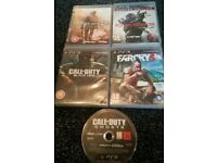 ps3 games bundle crysis 3/farcry3 / cod black ops/cod mw 2