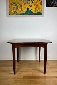 Stunning Mid Century Danish Teak and Rosewood Dining Table FREE LOCAL DELIVERY