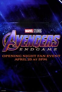 1 Endgame Opening Night Fan Event Ticket (best seat)