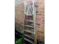 Vintage Rustic Wooden 6 steps step ladder DYI/Plant display
