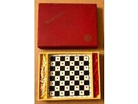Vintage 1960s Pocket Chess Set by K&C Ltd of London. Complete in Box.