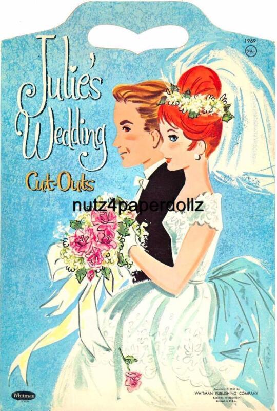 VINTAGE 1961 JULIE'S WEDDING PAPER DOLL ~WHITMAN~PRETTY UNCUT LASER REPRODUCTION
