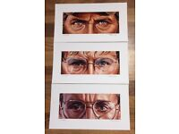 VERY RARE AND HIGHLY COLLECTIBLE - JAWS TRIO SET BY JASON EDMISTON - BRODY, QUINT & HOOPER
