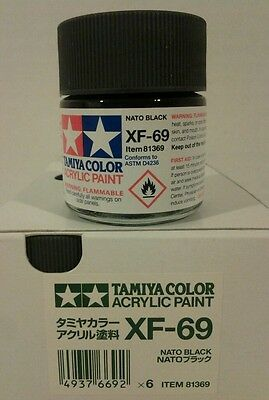 Tamiya acrylic paint XF-69 NATO Black 23ml