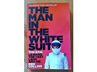 """The Stig """" The man in the white suit """" paper back book."""