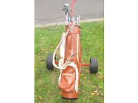 Full set of clubs including bag & trolley