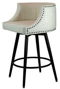 Comfortable Swivel Counter Height Kitchen Stool with Back - Made in CANADA