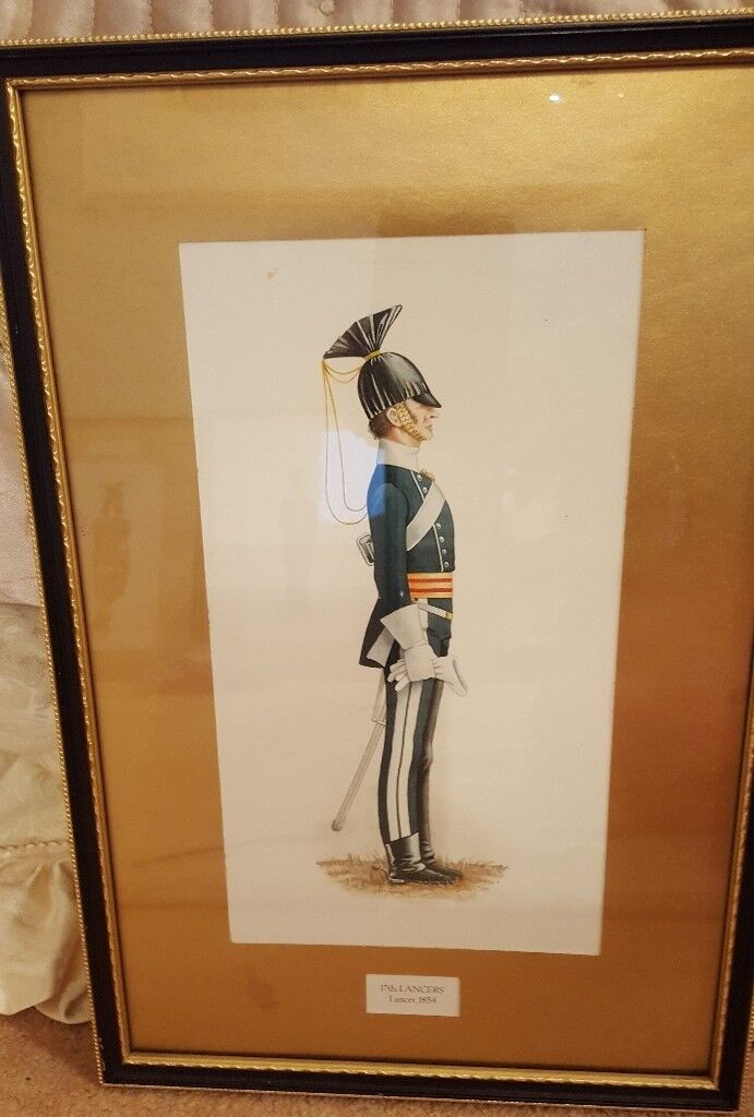antique Military painting