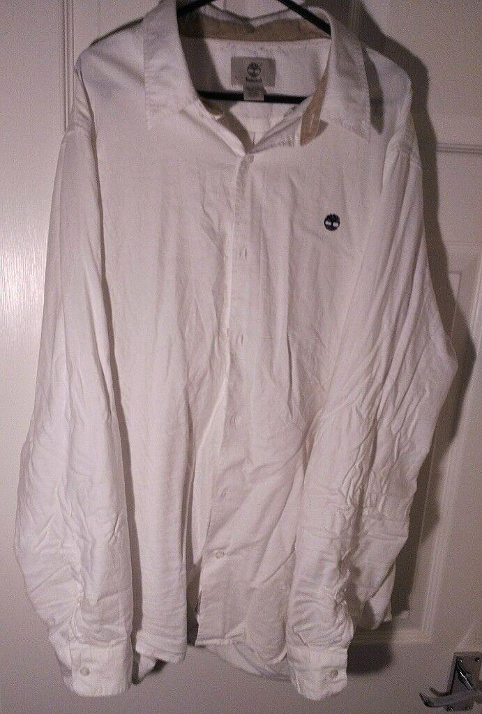 White Timberland Oxford Shirt