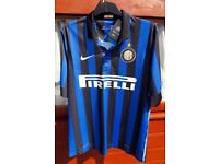 Inter Milan (home) football top.....men's medium size ..... BRAND NEW with tags.......just £15
