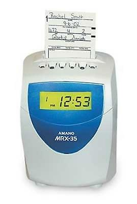 Amano Amano Mrx35 Time Clock Recorder System Mrx-35a140 Clock System New