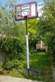 AND1 Slam Jam Polycarbonate basketball system