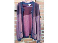 Stunning Dickins & Jones Blue mix pink women's cardigan jumper sweater size M
