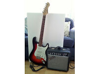 Fender 15G Practice Amp & Ion Electric Guitar Combo - great value for beginners