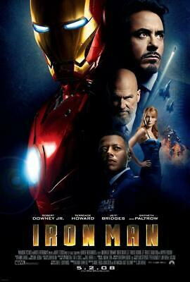 Iron Man Movie Poster Print Wall Art 8x10 11x17 16x20 22x28