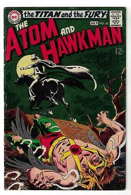 DC Comic ATOM Silver age  #43 Hawkman FN  superman 1968