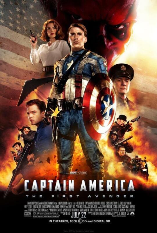 Captain America First Avenger Movie Poster 8x10 11x17 16x20 22x28 24x36 27x40 B