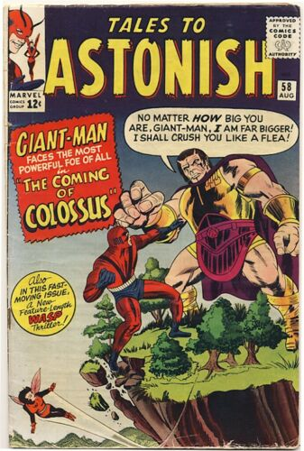 TALES TO ASTONISH #58 1964 GIANT-MAN & THE WASP 1st Appearance Colossus