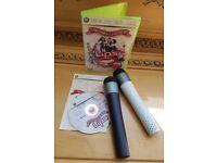 Xbox 360 Lips No 1 Karaoke Game disc and 2 wireless Microphones