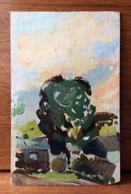 Old Oil Painting on board