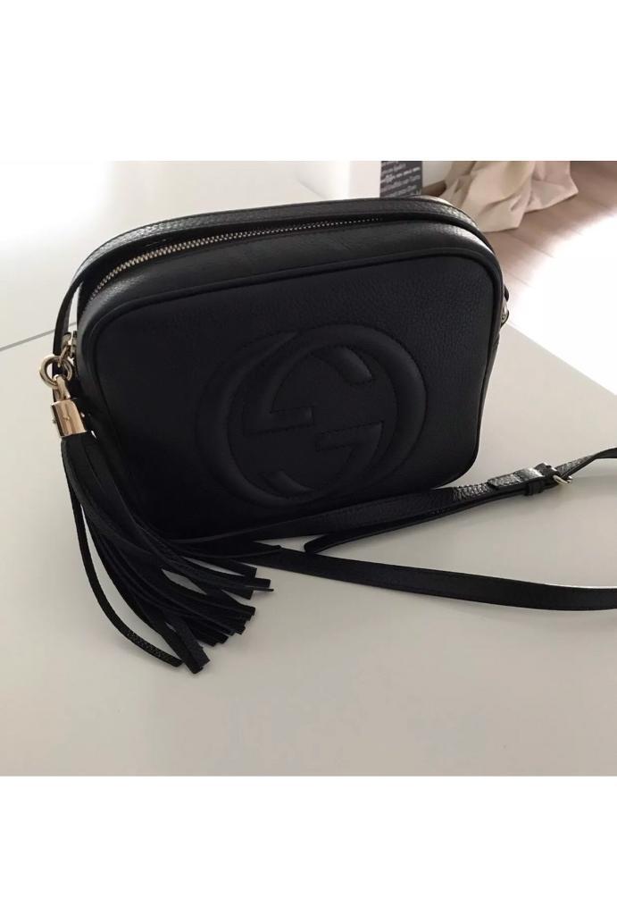 Women s GG Soho Disco Handbag Shoulder Bag Black UK BNWT  8d32c7ff98a8b