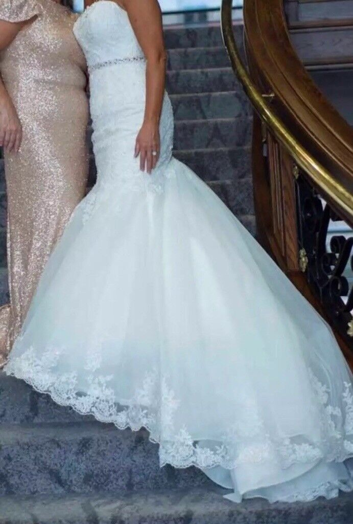 Sophia Tolli Begonia Fish Tail Wedding Dress & Vail   in Knowsley ...