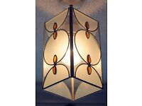 Amber Frosted Glass Tiffany Style Pendant Light Shade