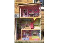 Tall dolls house, great condition.