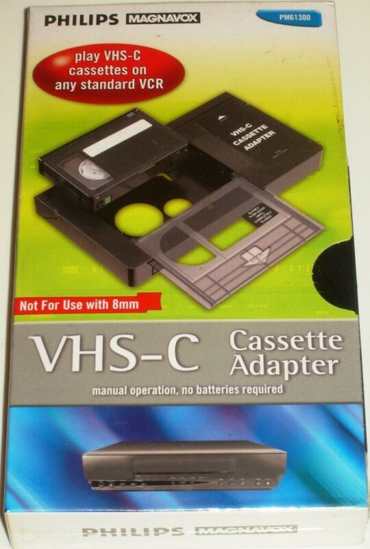 Philips Magnavox VHS-C Video Cassette Adapter PM61300 VHSC Ships FREE