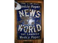 News of the World Enamel sign