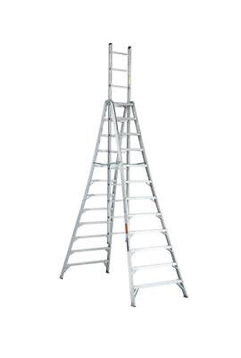Louisville Ladder 12 Foot Aluminium Industrial Extension Trestle Ladder AX1012