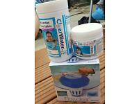 multi function chlorine tablets and floater