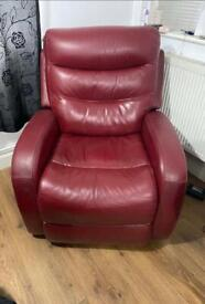 Real Leather Electric Recliner Chair.